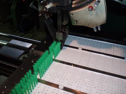 平板の丸線植え加工